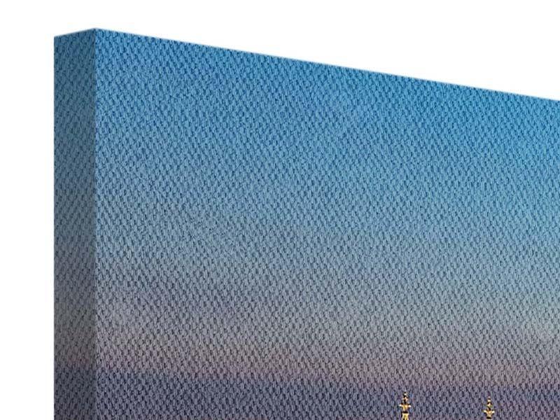 Leinwandbild modern Skyline Koelner Dom bei Nacht 3-teilig