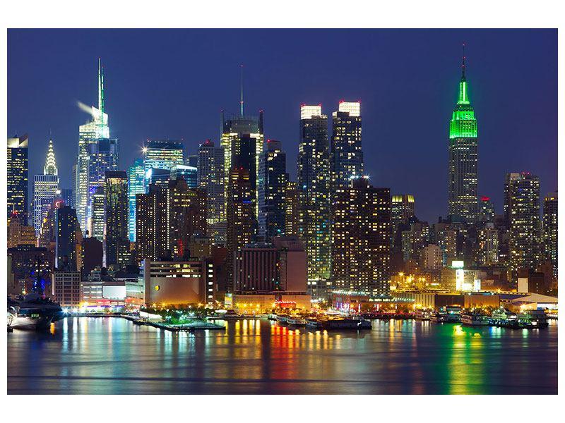 Leinwandbild modern Skyline New York Midtown bei Nacht
