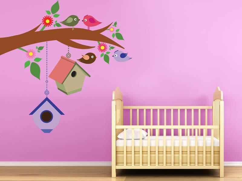 Wandtatto Bilder Kinderzimmer Vögel