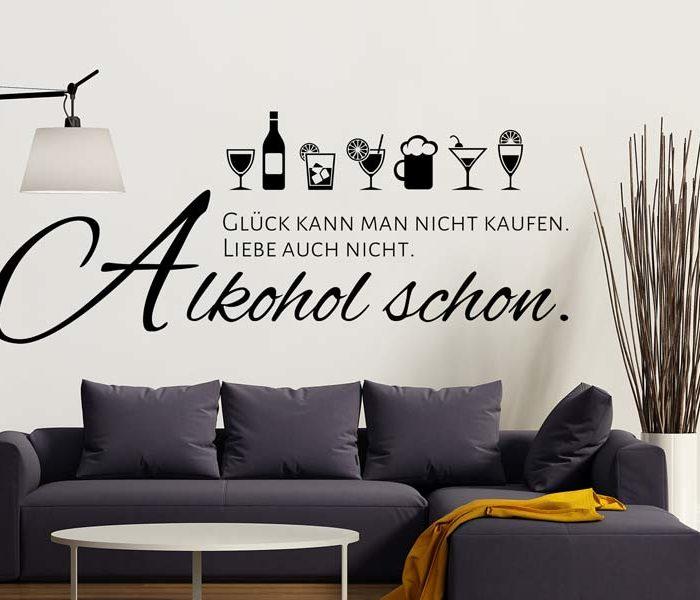 Wandtattoo Alkohol lustig Spruch
