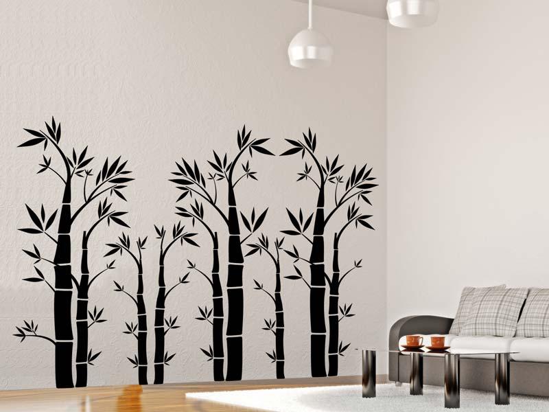 Wandtattoo Bambus Bambuswald wunderschön