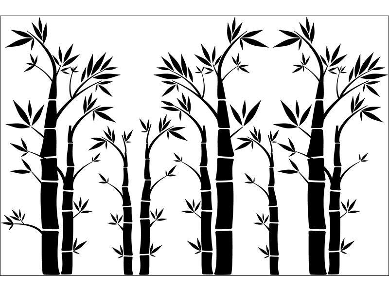Wandtattoo Bambuswald günstig Bilder