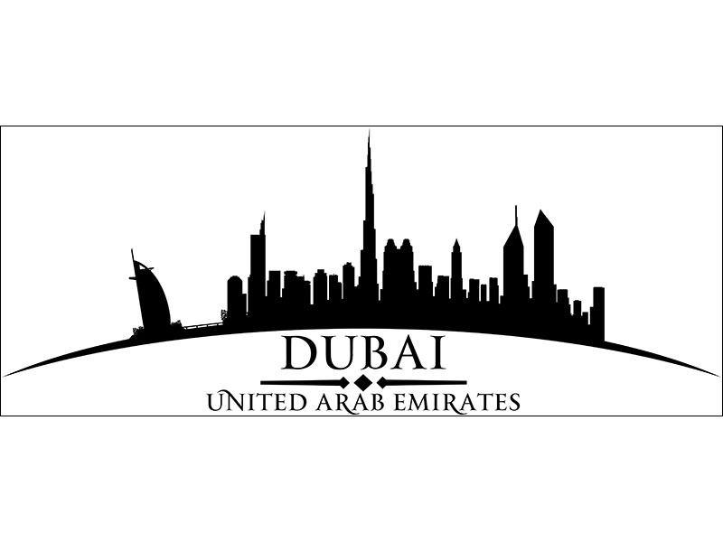 Wandtattoo Dubai Skyline günstig