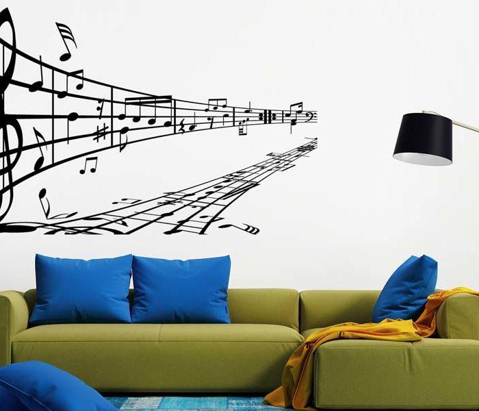 Wandtattoo Musik Noten Melodie
