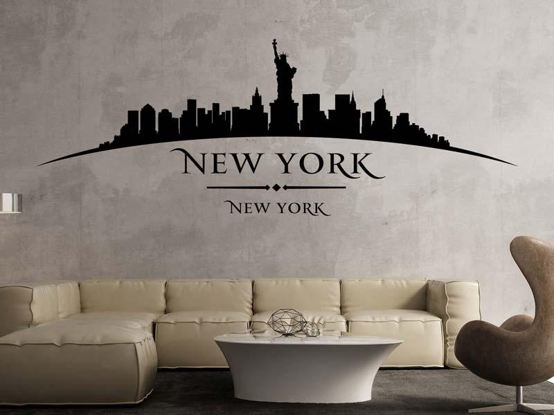 Wandtattoo Skyline New York Stadt