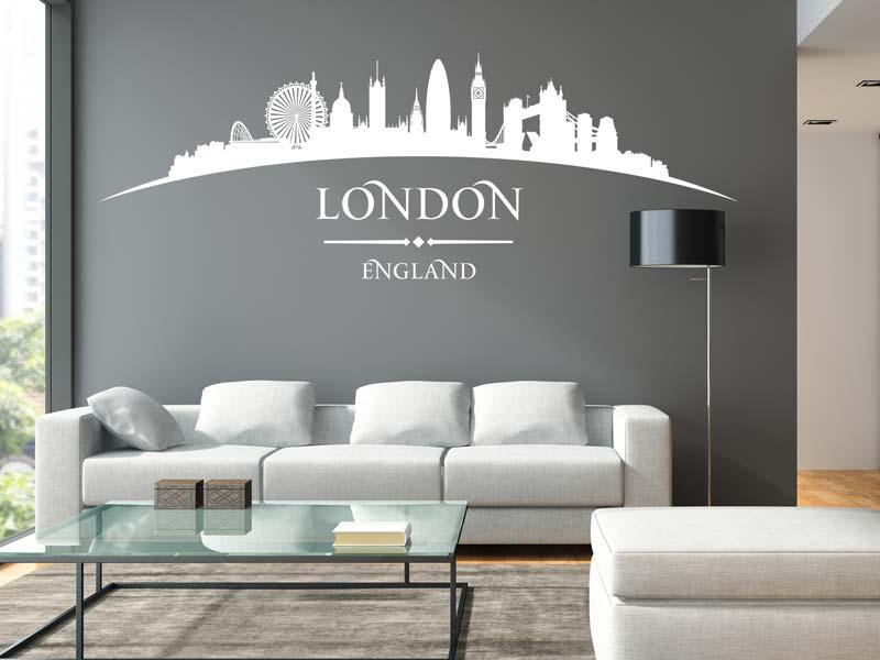 Wandtattoo Skyline Stadt London