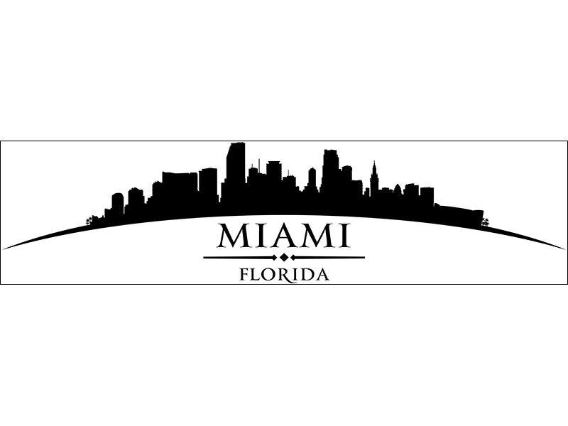 Wandtattoo Skyline Stadt Miami wunderschön