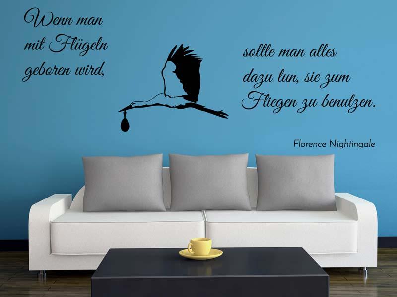 Wandtattoo Spruch Florence Nightingale