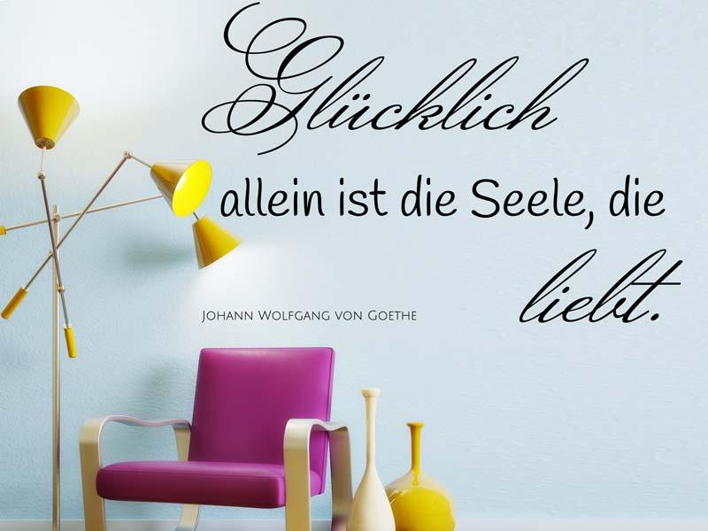 Wandtattoo Spruch Goethe