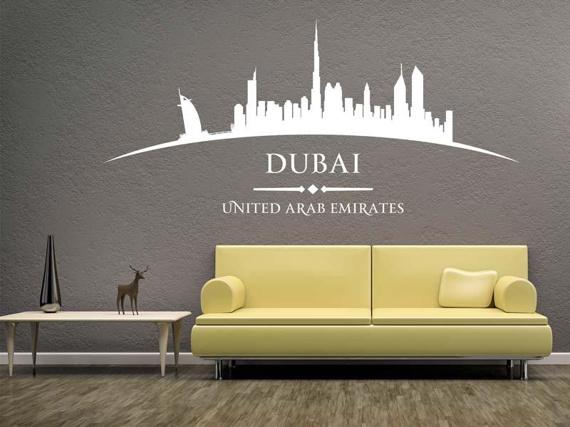 Wandtattoo Stadt Dubai wunderschön