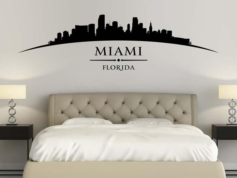 Wandtattoo Stadt Miami Florida günstig