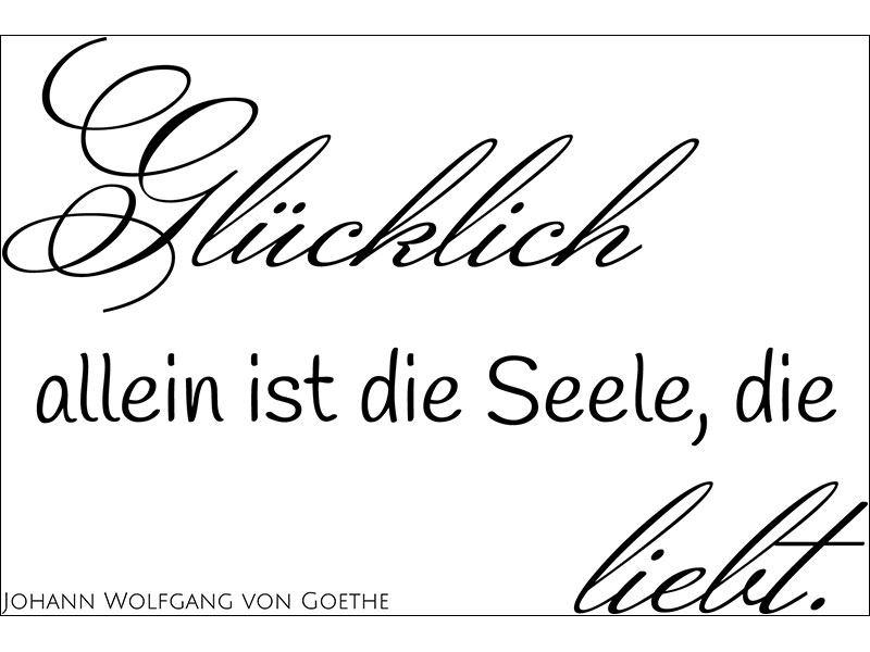 Wandtattoo schöner Spruch Goethe