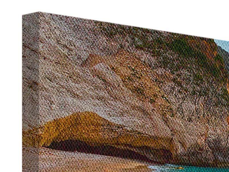 Leinwandbild-3-teilig-Strandaussicht