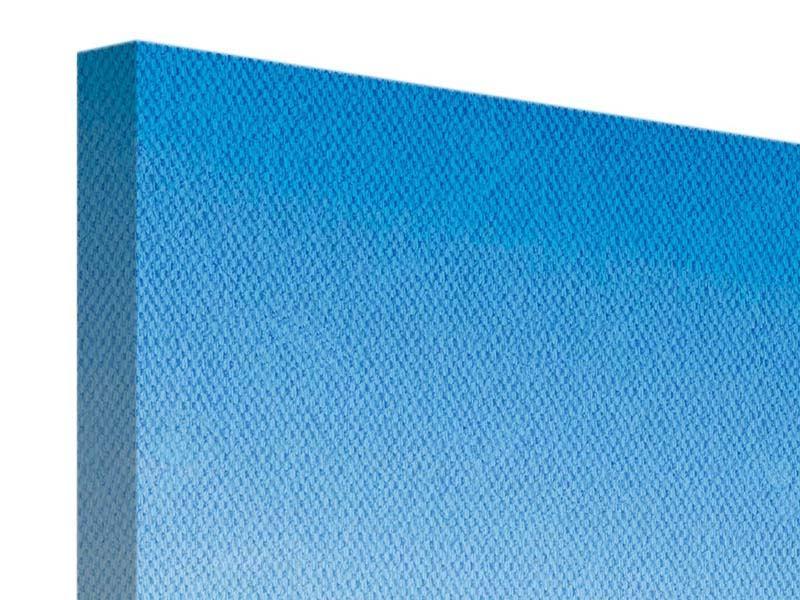 Leinwandbild Blau Eifelturm Paris