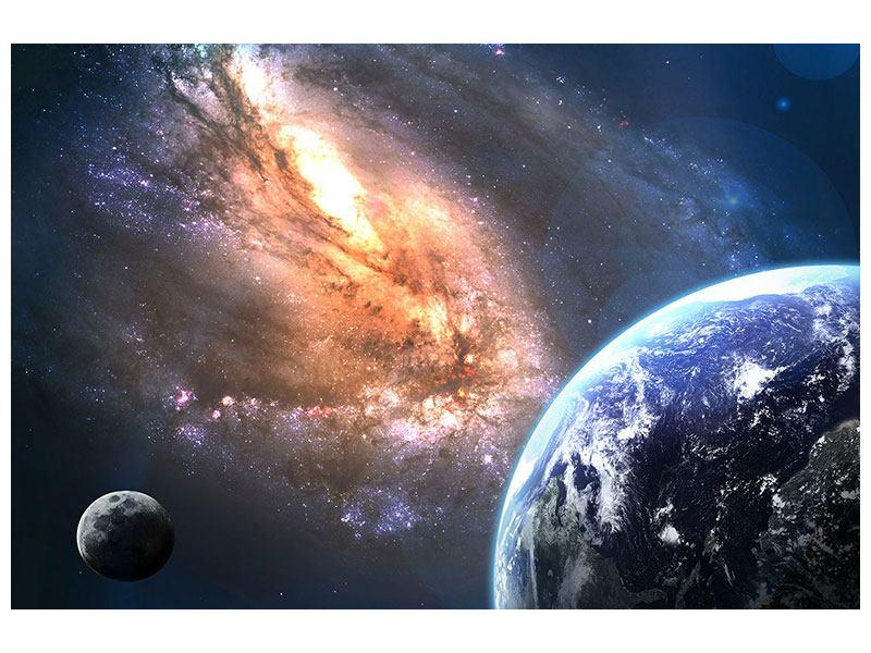 Leinwandbild Blau Universus