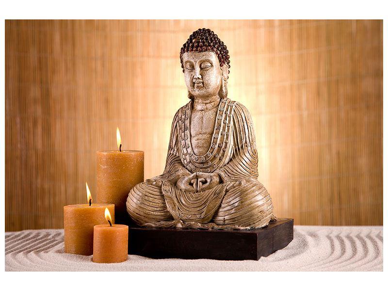 Leinwandbild Buddha Figur in der Meditation