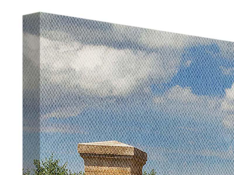 Leinwandbild Bunt Panorama Lavendel Garten