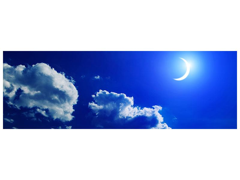 Leinwandbild Der Mond Panorama
