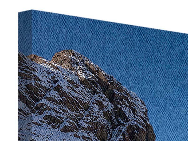 Leinwandbild-Der-Riffelsee-am-Matterhorn Blau