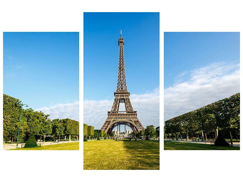 Leinwandbild Eifelturm Paris 3-teilig