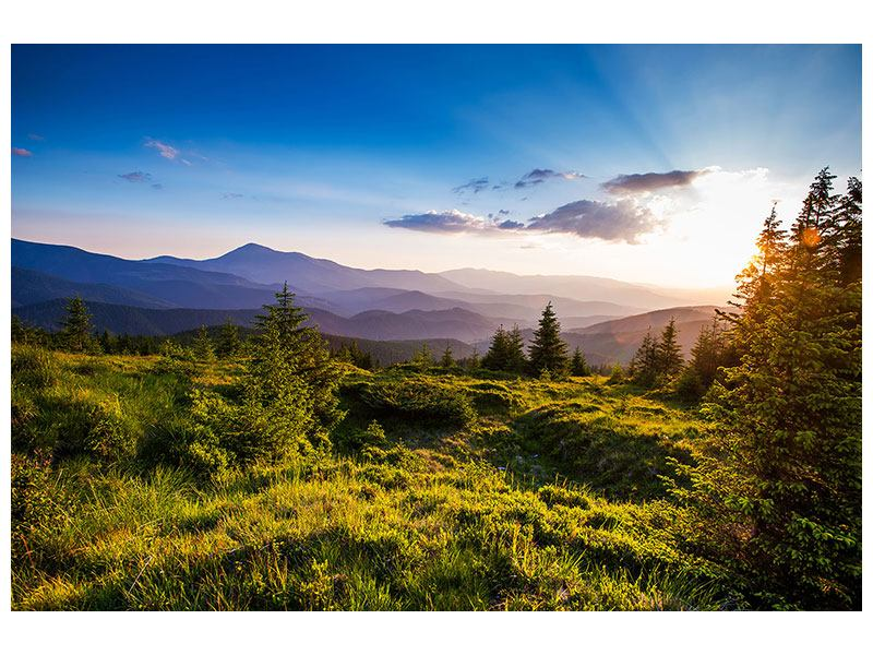 Leinwandbild-Friedliche-Landschaft querformat