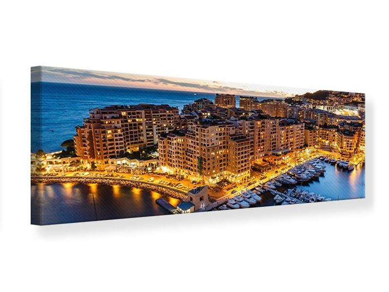Leinwandbild Gold Monaco panorama