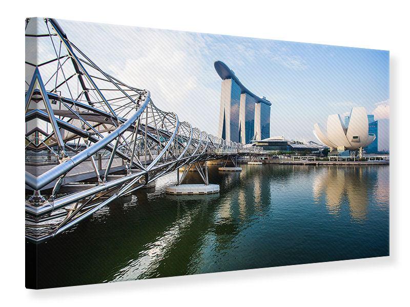 Leinwandbild Hellblau Singapur Querformat