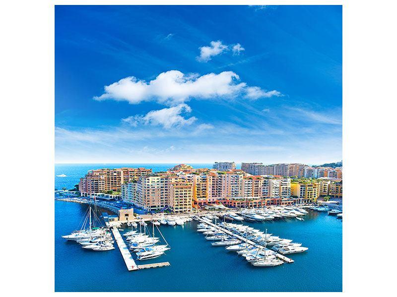 Leinwandbild Jachthafen Monaco quadratisch