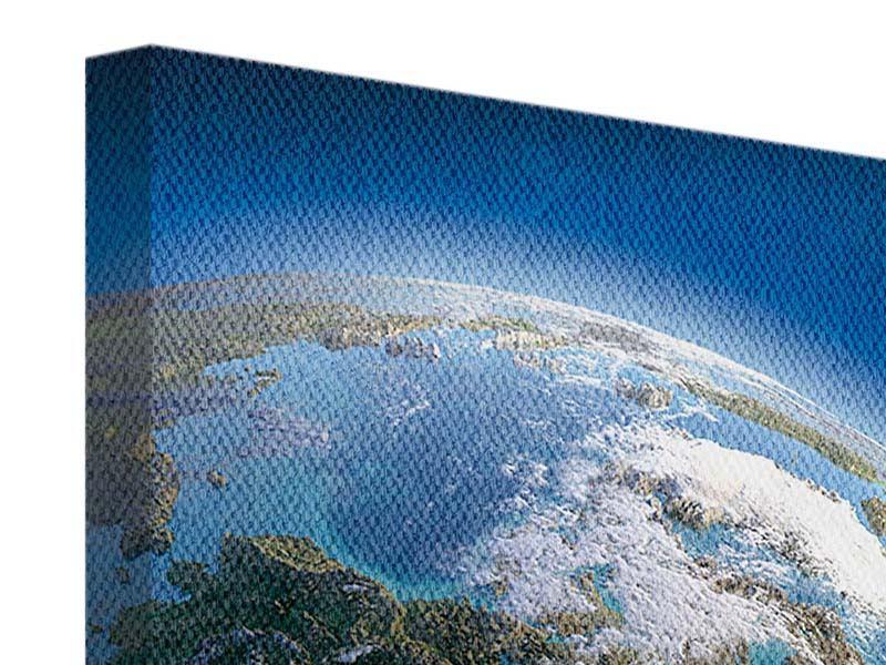 Leinwandbild blau Die-Erde quadratisch