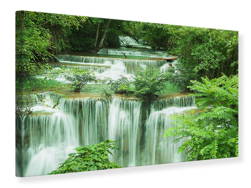Leinwandbild grün 7 Stufen in Thailand querformat