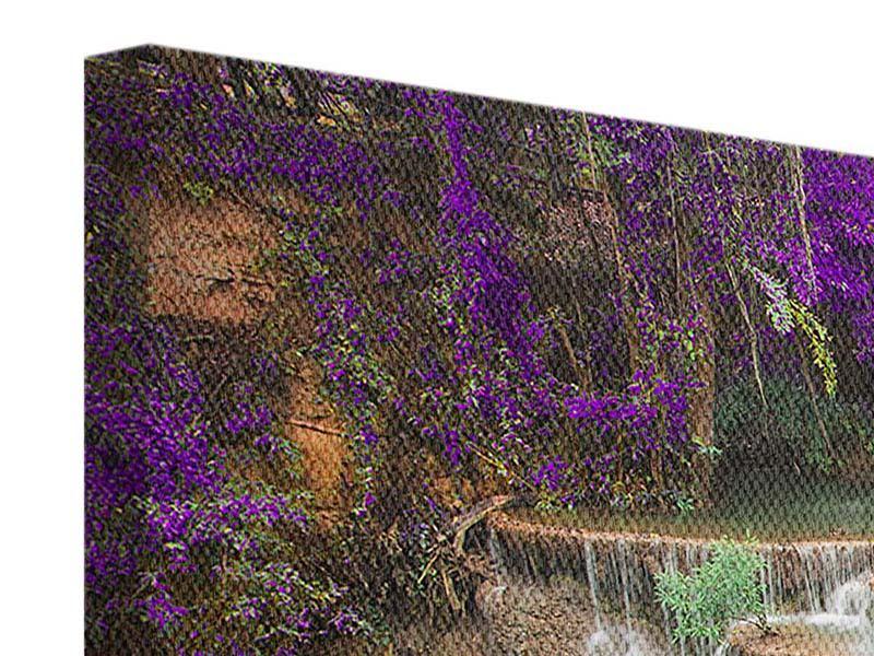 Leinwandbild-lila-querformat-Garten-Eden