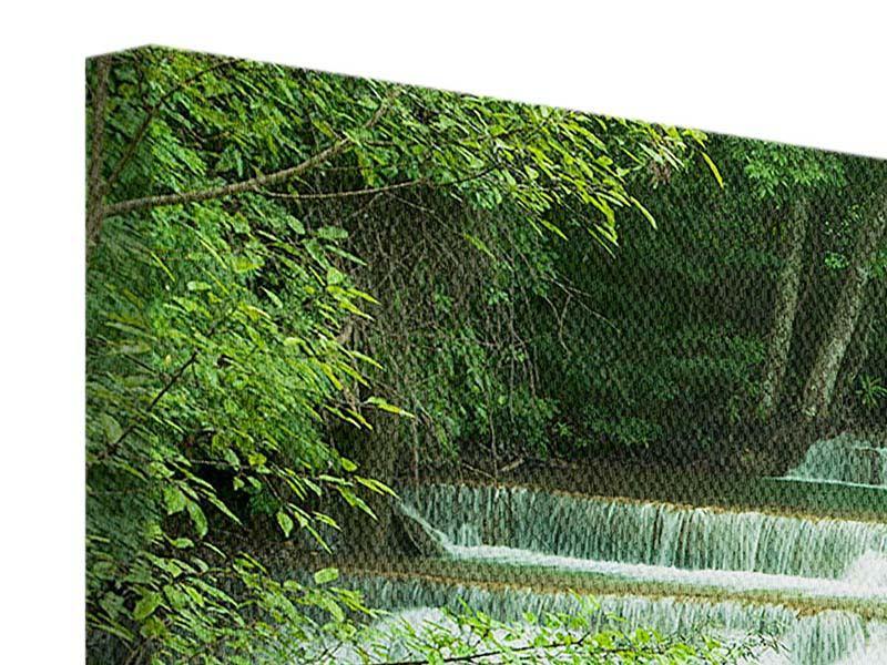 Leinwandbild querformat-7-Stufen-in-Thailand grün