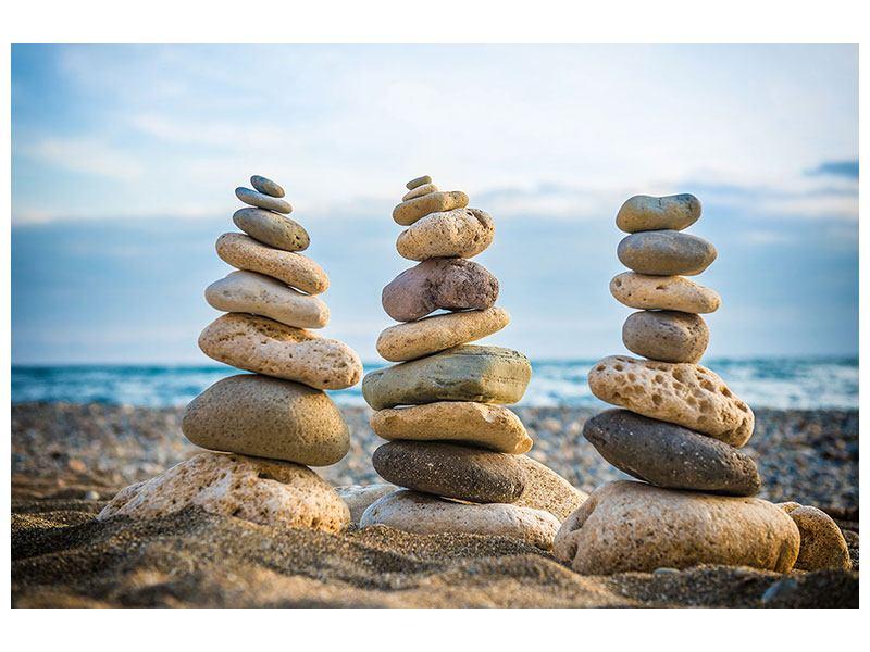 Leinwandbild querformat Drei-Steinstapel