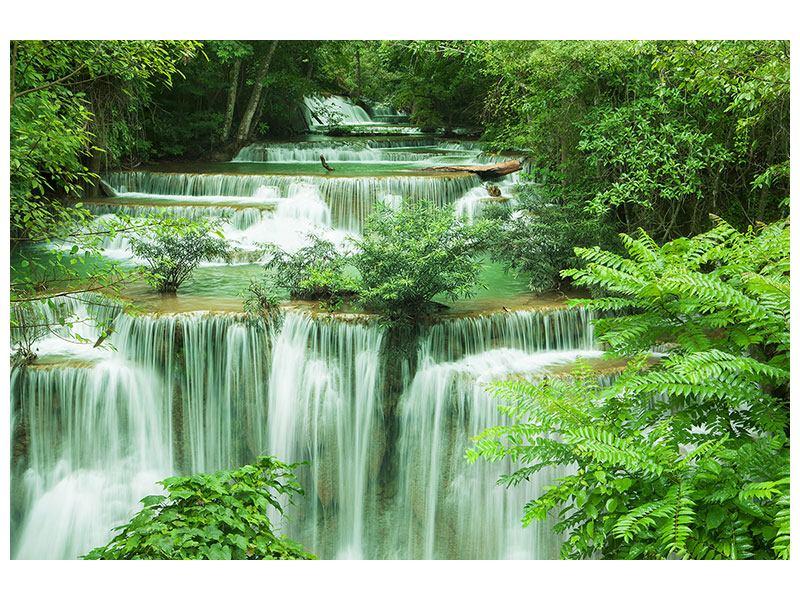 Leinwandbild querformat grün 7 Stufen inThailand